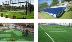 Presupuestos para pistas de pádel, canchas tenis, campos de golf, minigolf, fútbol...