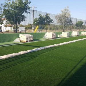 Campo fútbol Colegio Diocesano, construcción de campo de fútbol