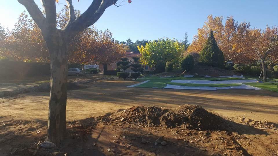 Construcción campo deportivo de golf