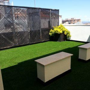 Césped artificial para paisajismo, césped para terraza