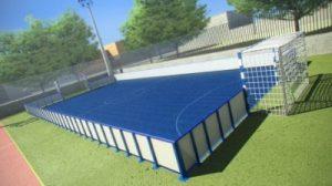 Construcción de canchas de fútbol pistas tipo Indoor, campo de fútbol césped artificial